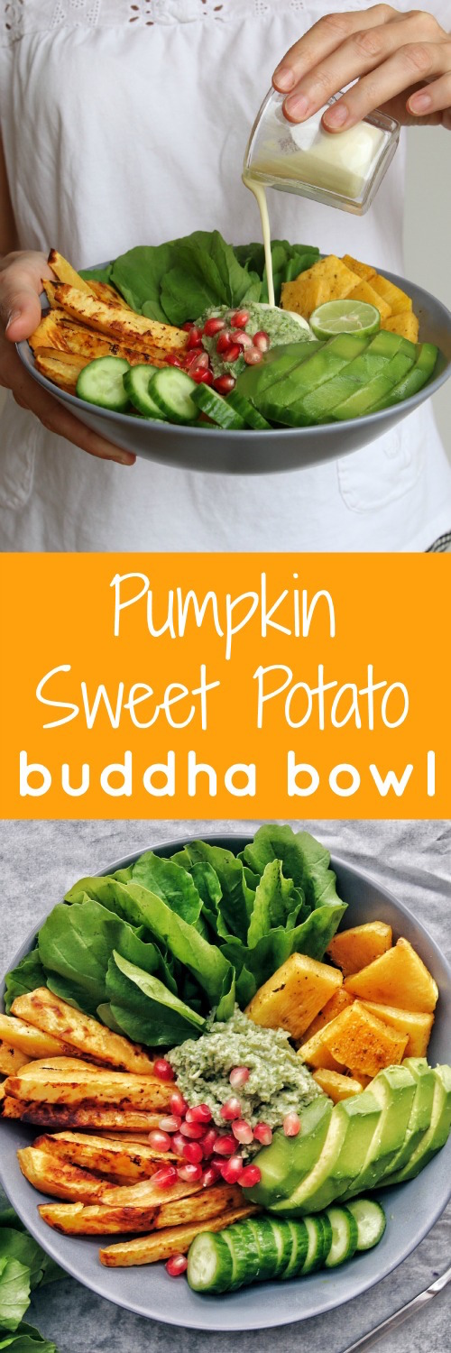 Pumpkin Sweet Potato Buddha Bowl