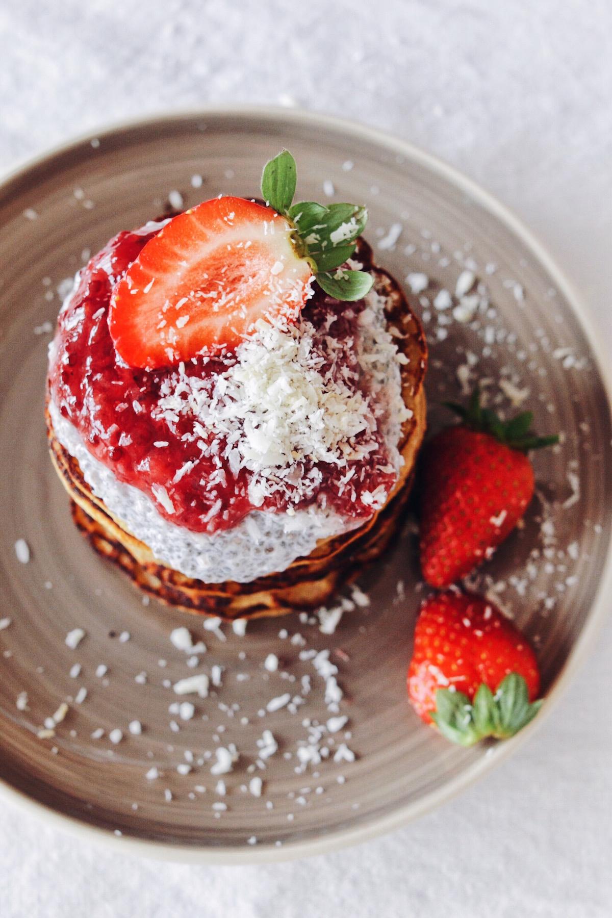 Vegan Protein Banana Pancakes glutenfree