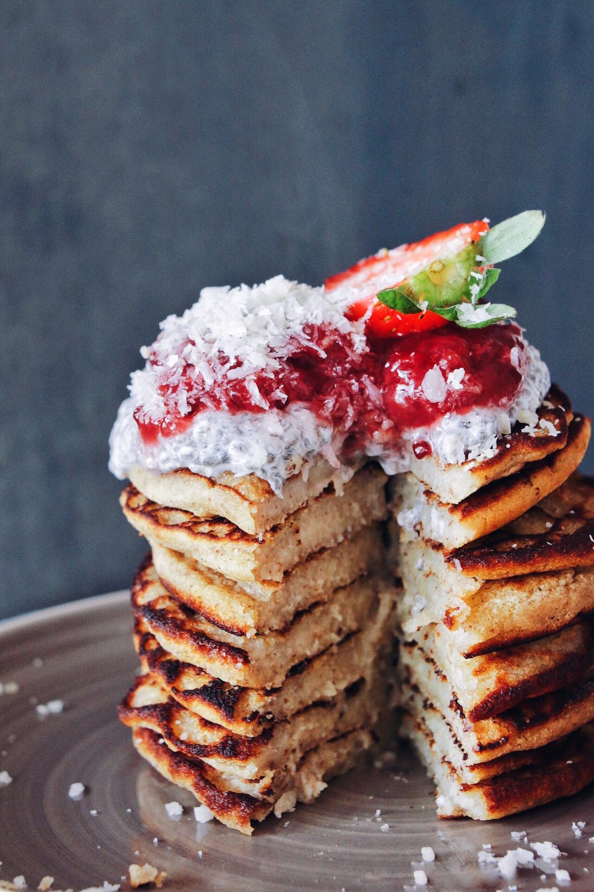 Vegan Protein Banana Pancakes