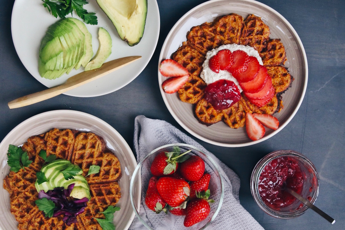 Sweet Potato Chia Waffles