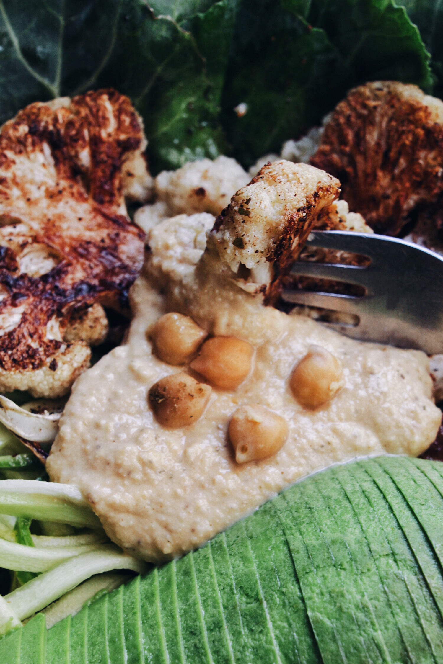 Roasted Cauliflower Bowl with Cinnamon and Cumin