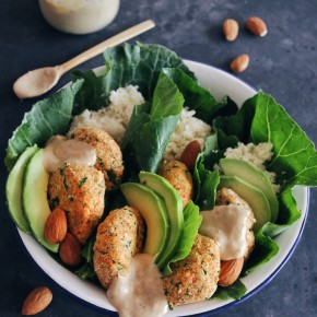 Raw Falafel Wraps with Apricot Tahini Sauce