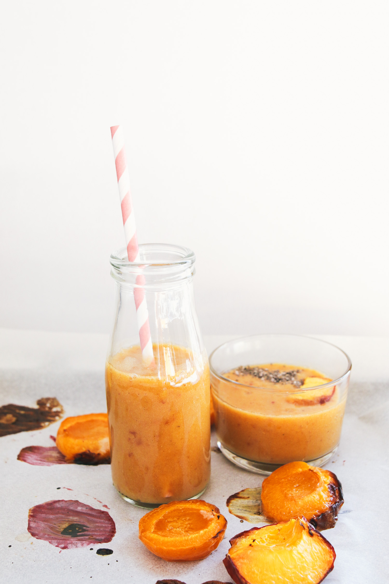 Roasted Peach Apricot Smoothie