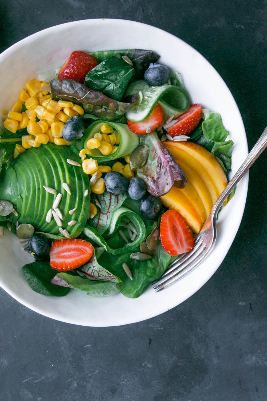 Late Summer Salad - black.white.vivid