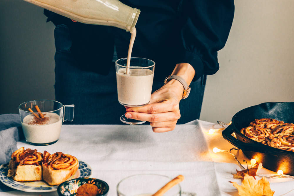 Creamy Vegan Eggnog + Cluse Watches Giveaway by black.white.vivid