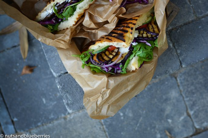 Eggplant Gyros - a guest post by Janine of Nut and Blueberries on black.white.vivid.