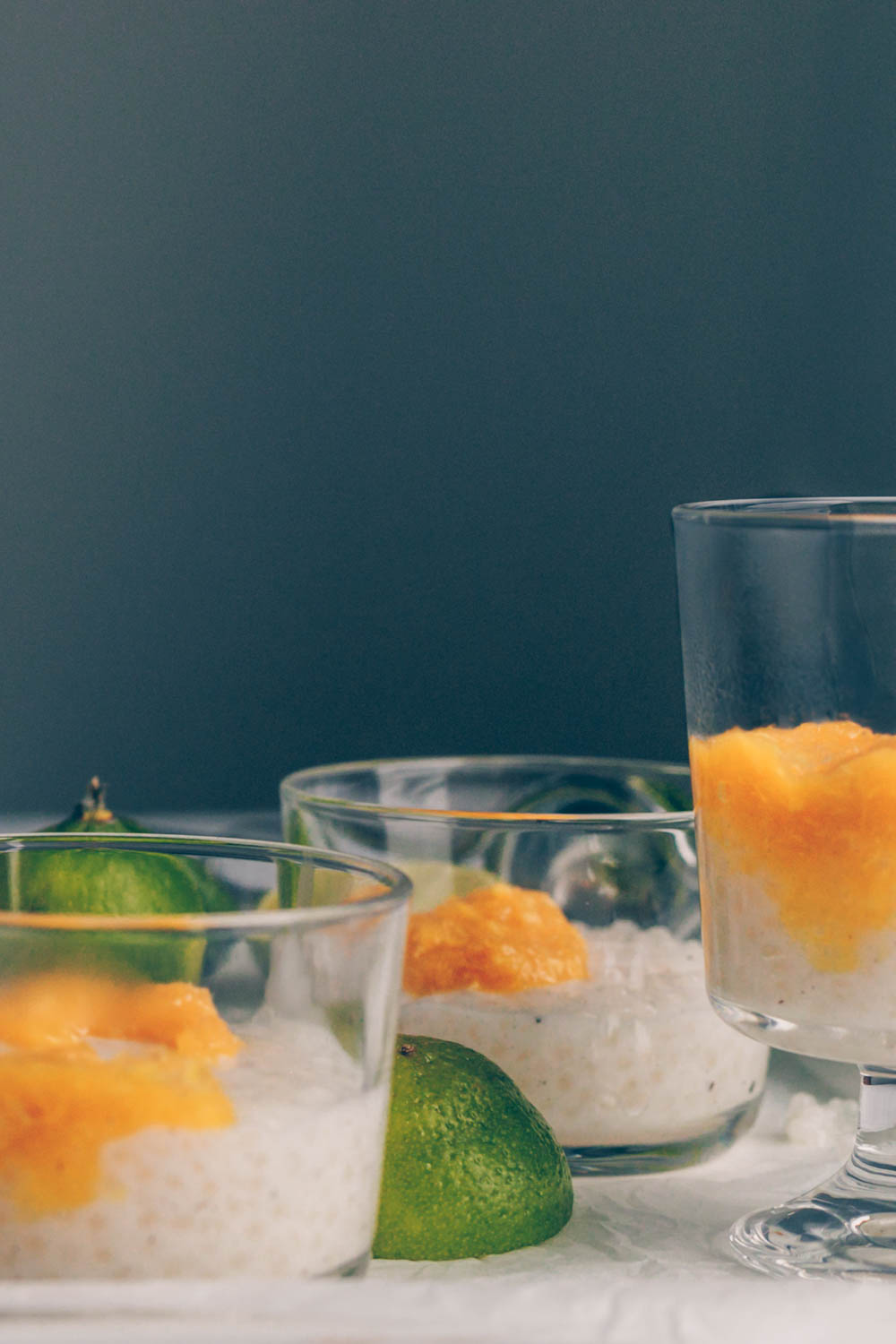 Lime Coconut Tapioca Pudding with Cardamon Orange Compote (vegan & gluten-free) by black.white.vivid