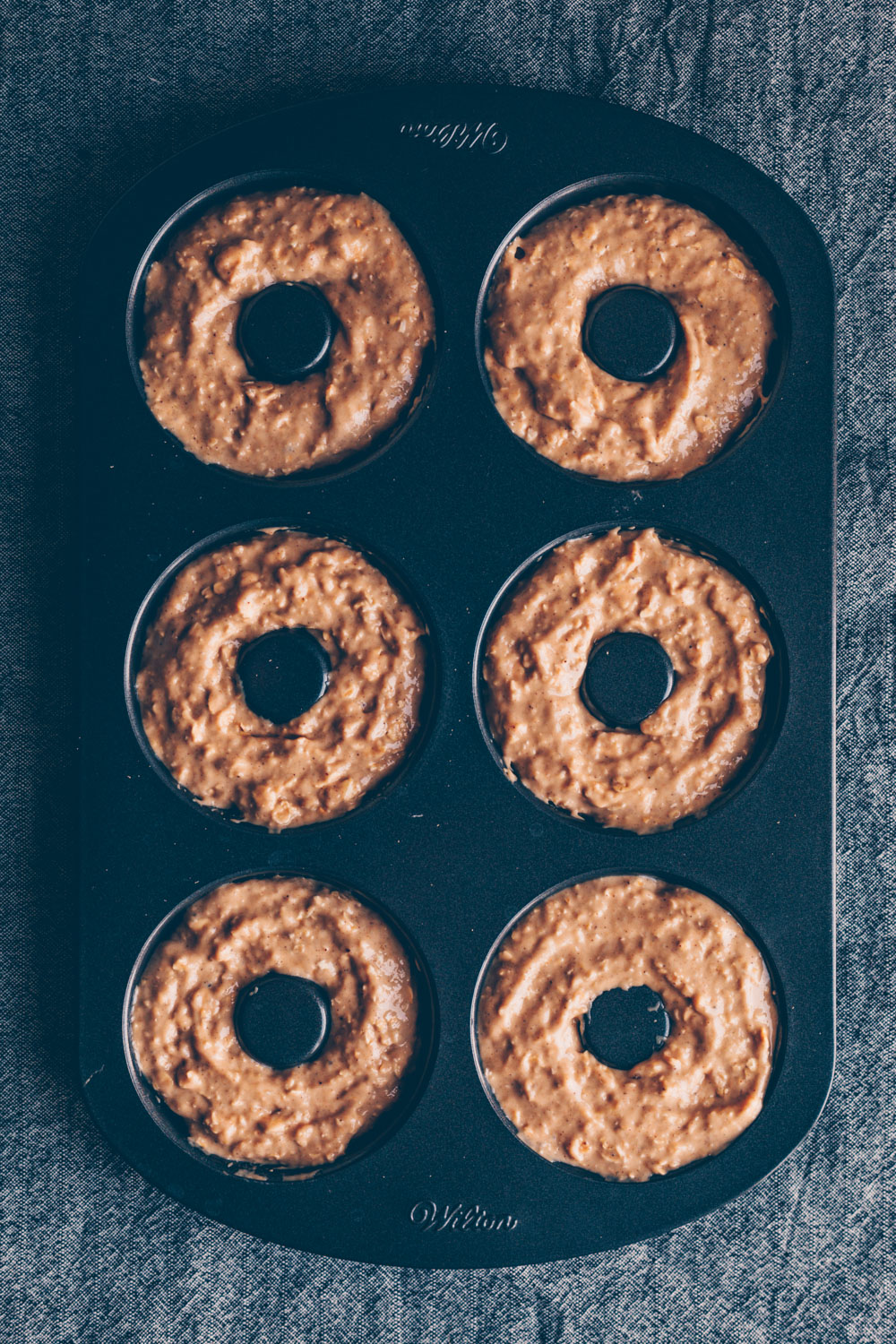 Banana Bread (Doughnuts) with Cinnamon Tahini Frosting by Kati of black.white.vivid.