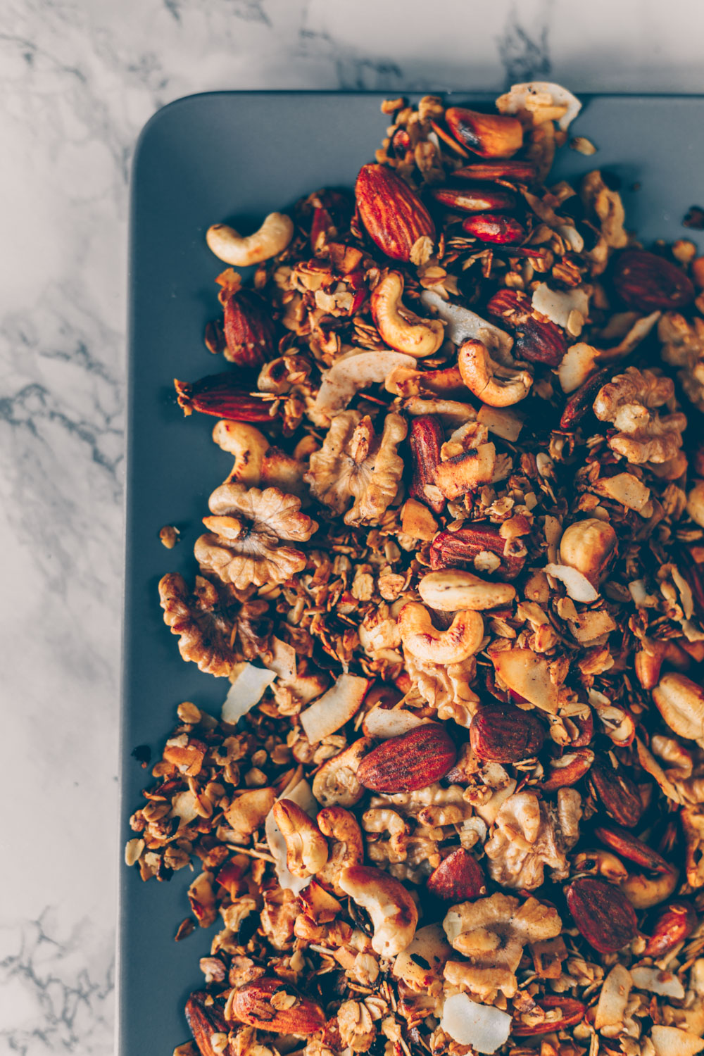 Stovetop Nut Coconut Granola (vegan & gluten-free) by Kati of black.white.vivid.