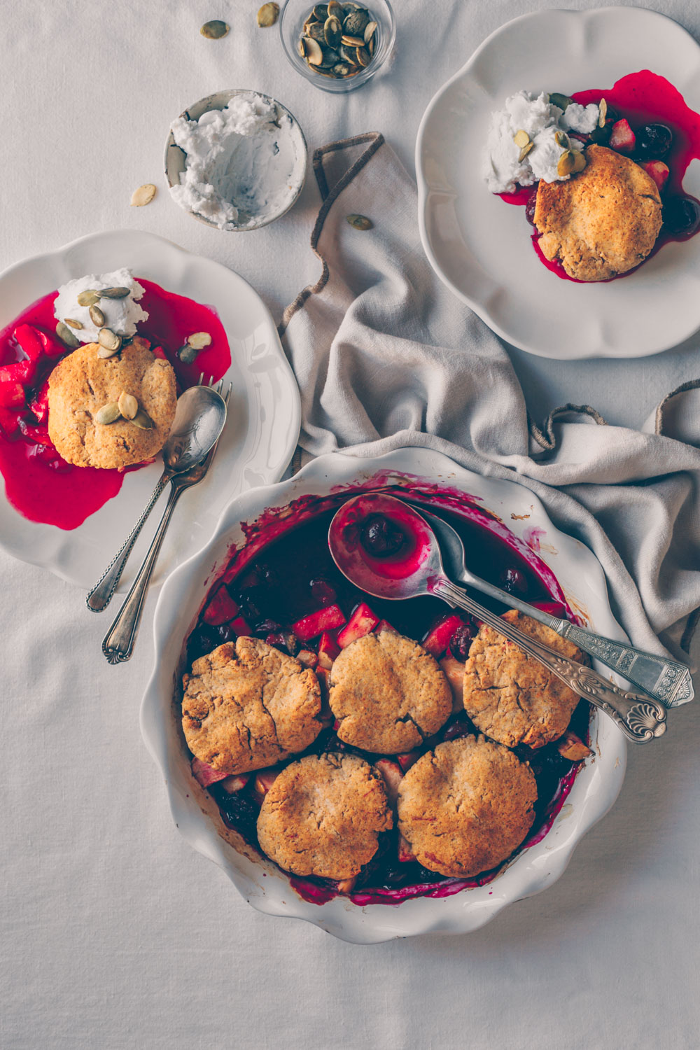 Cherry Pear Apple Cobbler (vegan & gluten-free) by Kati of black.white.vivid.