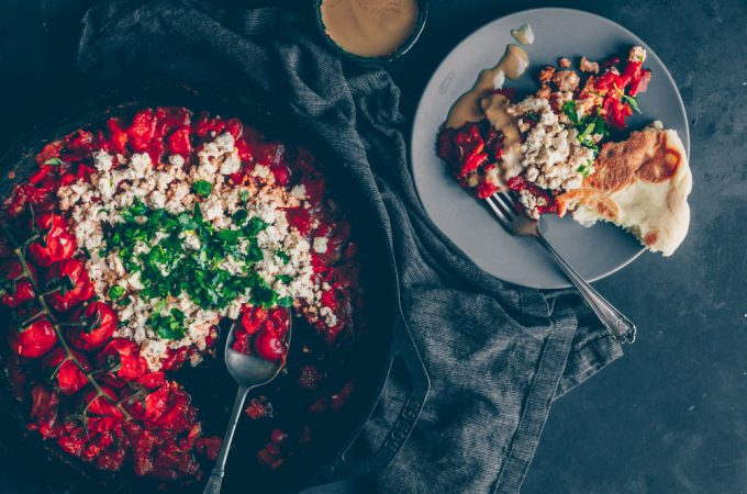 Israeli Shakshuka with tofu (vegan & gluten-free) by Kati of black.white.vivid.