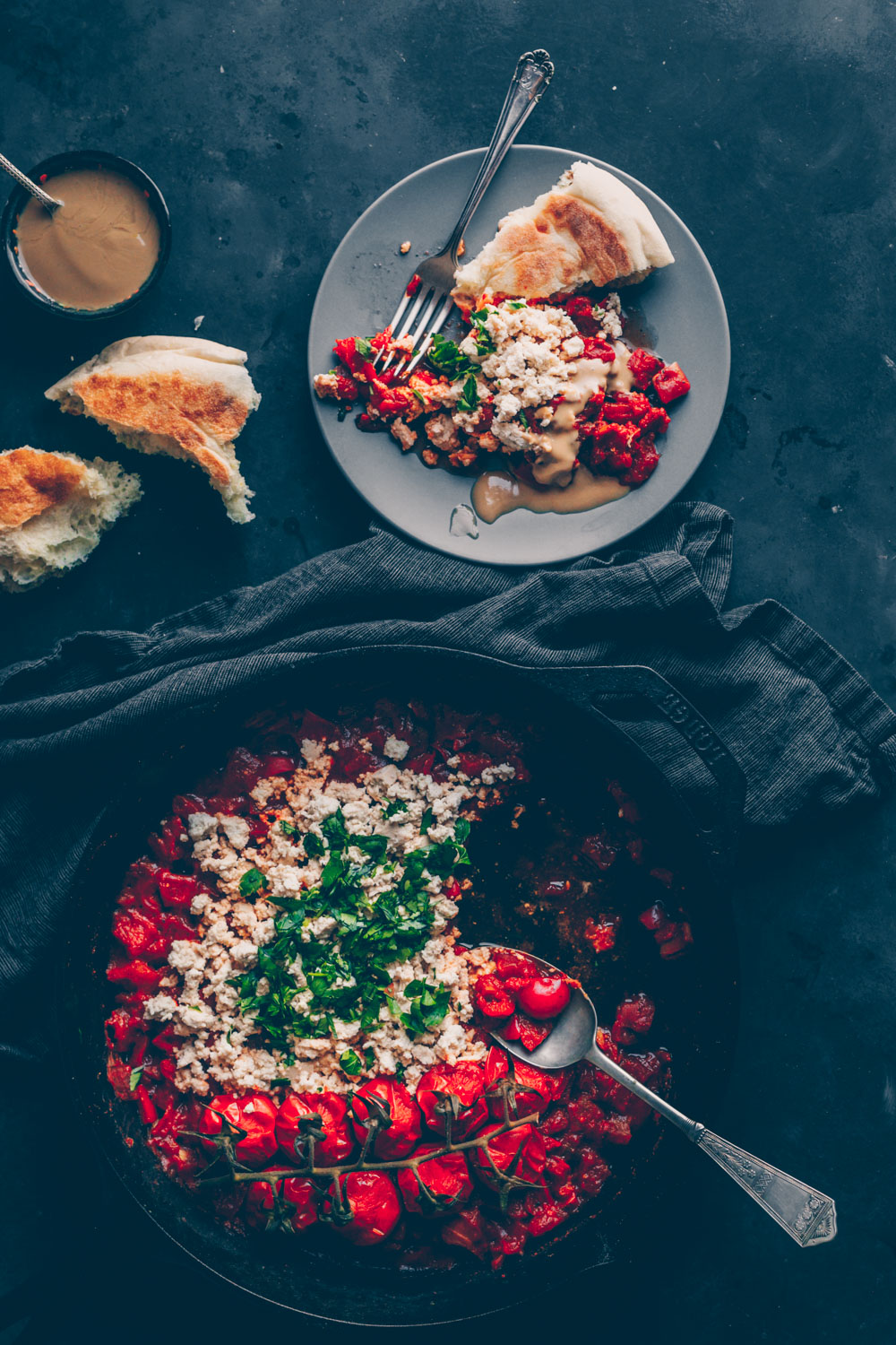 Israeli Vegan Shakshuka with tofu (gluten-free) by Kati of black.white.vivid.