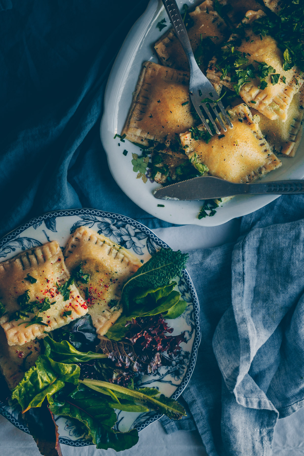 German Giant Pasta Pockets (Maultaschen) (Vegan Recipe) by Kati of black.white.vivid.