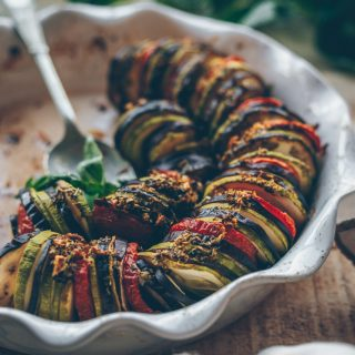 Mediterranean Vegetable Gratin (Provencal Tian) by Kati of black.white.vivid. (Vegan Recipe)