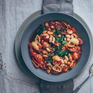 Pasta and Bean Stew (Pasta e Fagioli) - A Vegan Recipe by Kati of black.white.vivid.