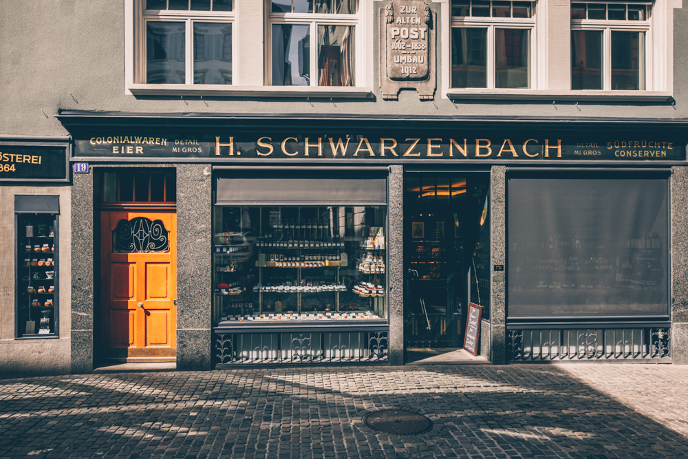 A Quick Food Guide to Zürich, Switzerland by Kati black.white.vivid. - Tea and Nuts Shop Schwarzenbach