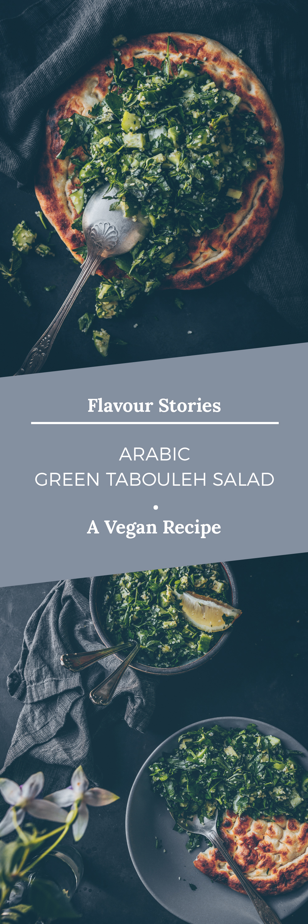 Arabic Green Tabouleh (Tabbouleh) Salad by Kati of black.white.vivid. (Vegan Recipe)