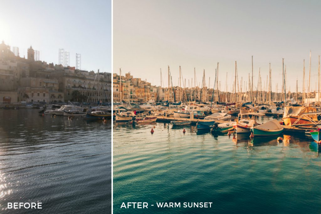 Moody Travel Photography Lightroom Presets-Warm Sunlight