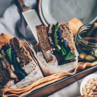 Russian Inspired Rye Bread Sandwich (Vegan Recipe) by Kati of black.white.vivid.
