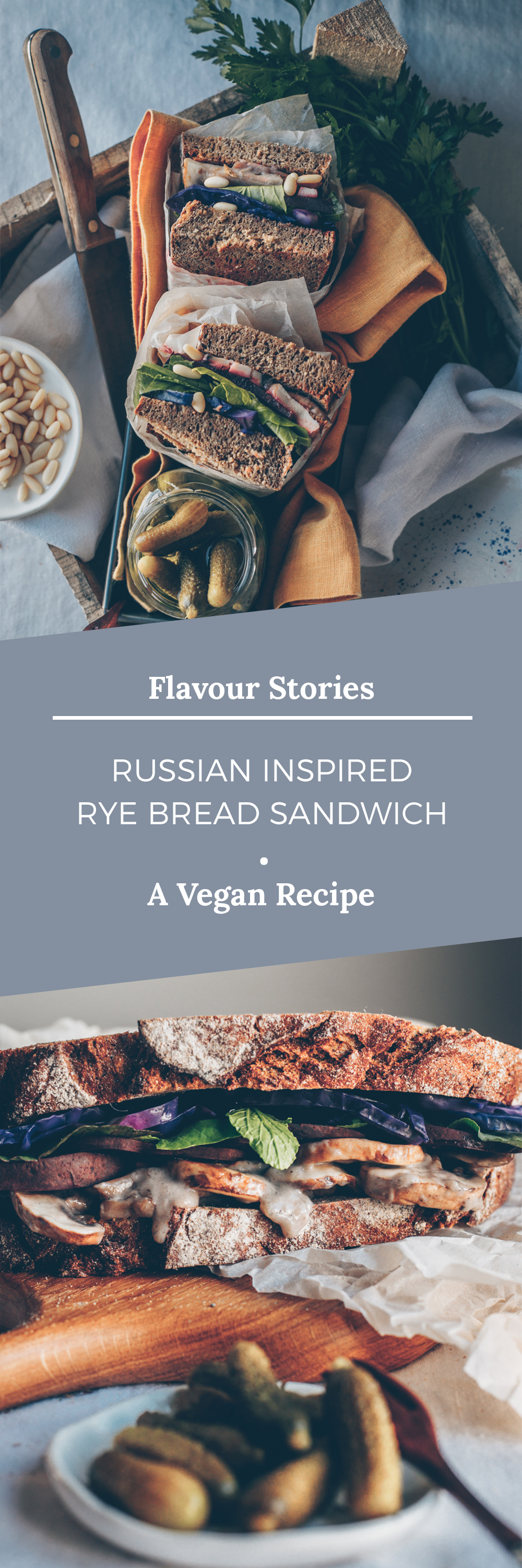 Russian Inspired Rye Bread Sandwich (Vegan Recipe) by Kati of black.white.vivid.