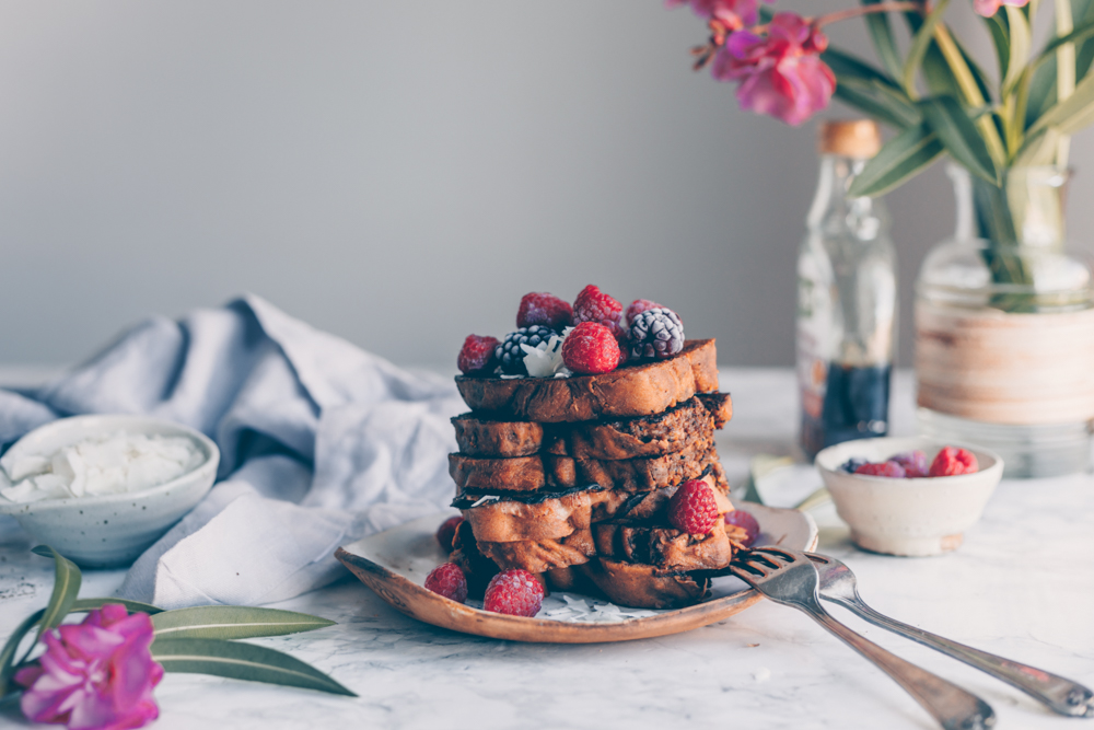 Vegan french toast with croatian walnut bread blackwhitevid vegan french toast with croatian walnut swirl bread povitica an easy quick forumfinder Image collections