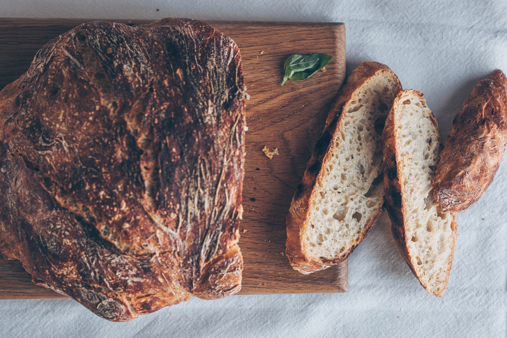 French Breakfast Bread - No-Knead Dutch Oven Bread - A Vegan recipe by Kati of black.white.vivid. - bread recipe, dutch oven recipe, food photography, food styling, bread photography, staub pot, staub cocotte, cast iron, staub bread recipe